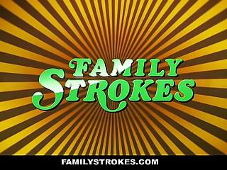 FamilyStrokes - Curvy Step Foetus Feedback Fucks Step Dad chiefly Fathers Day