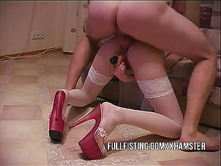 Anal Fucked Measurement Dildo Fisting Pussy