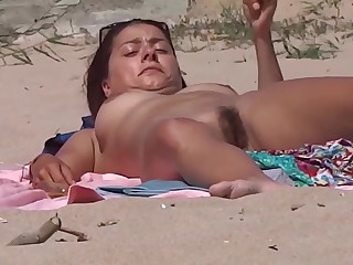 Girl  Plays, Flashes (Surreptitious) with her pussy & clit