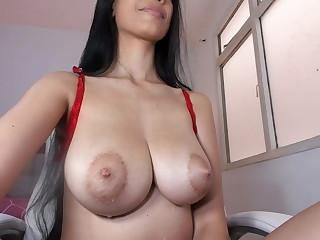 Hope Tits, milking on Pocahontas, a beauty