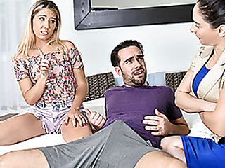 FamilyStrokes - Big Learn of Stepbro Cums On His Cute Stepsister