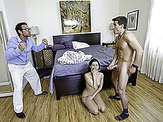 FamilyStrokes - Small Tits Latina Stepsister Sucks And Fucks The brush Stepbro