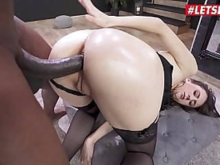 LETSDOEIT - Rough Anal Interracial Fun With French Classy Teen Lina Luxa