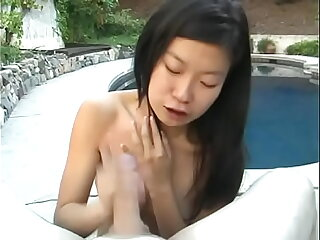 Hot Asian Leandra Lee likes cock in her mouth